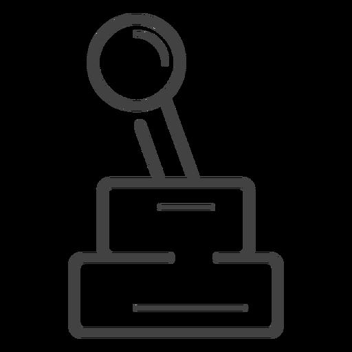 Icono de trazo de joystick de Arcade Transparent PNG