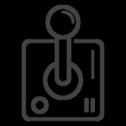Arcade-Stick-Strich-Symbol Transparent PNG