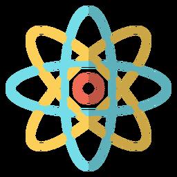 Ilustração da escola do átomo