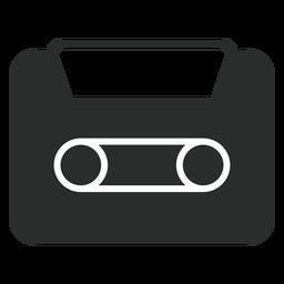 Icono plano de cassette de audio