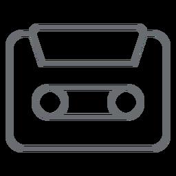 Ícone de traço de cassete de áudio