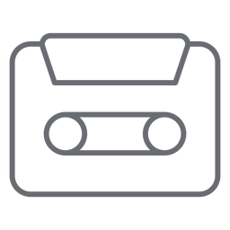 Icono de trazo de cassette de audio