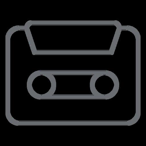 Ícone de traço de cassete de áudio Transparent PNG