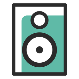 Audio speaker colored stroke icon