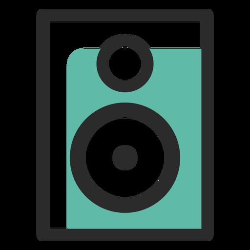 Ícone de traço colorido de alto-falante Transparent PNG