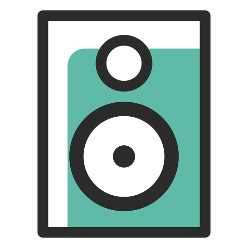Audio speaker colored stroke icon Transparent PNG