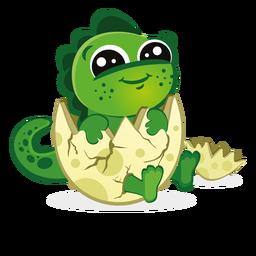 Baby-Dino in der Eierschalenkarikatur