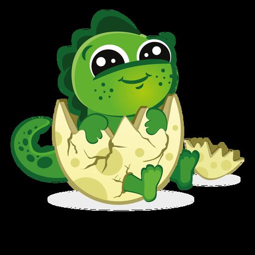 Baby Dino im Eierschalen-Cartoon