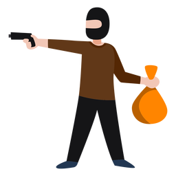 Banco de roubo de personagem bandido