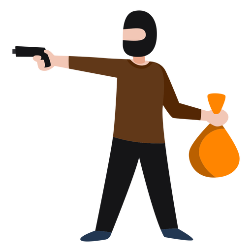Banco de roubo de personagem bandido Transparent PNG