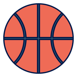 Basketball Ball Schule Symbol