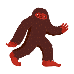 Bigfoot character cartoon