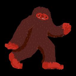 Dibujos animados del personaje de Bigfoot