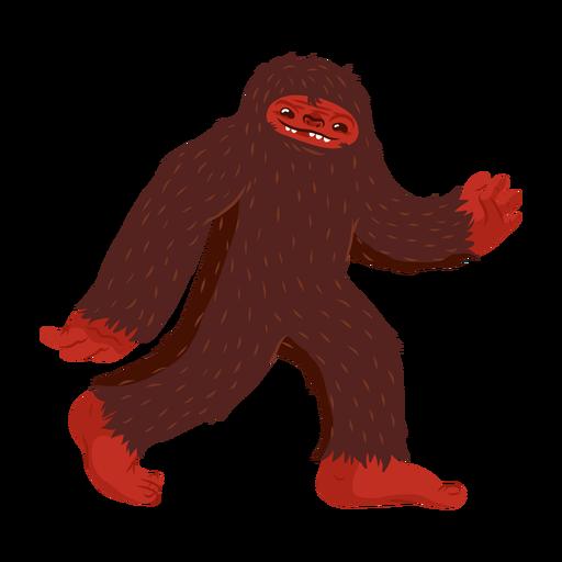 Bigfoot character cartoon Transparent PNG