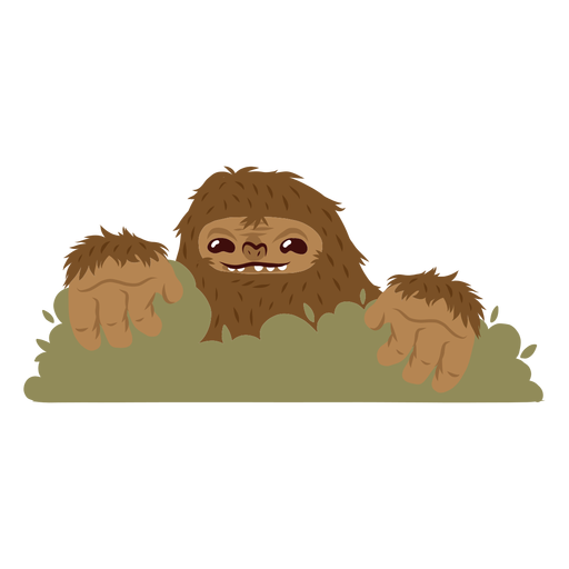 Bigfoot hiding cartoon Transparent PNG