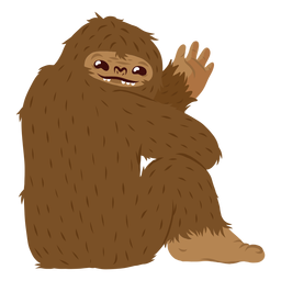 Bigfoot sitting cartoon