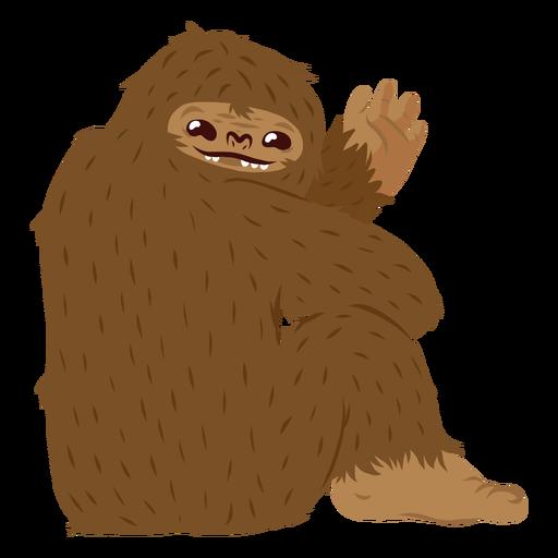 Bigfoot sentado cartoon Transparent PNG