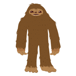 Bigfoot standing cartoon