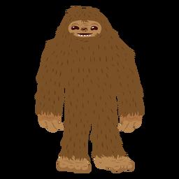 Bigfoot standing cartoon