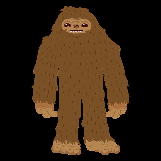 Bigfoot standing cartoon Transparent PNG