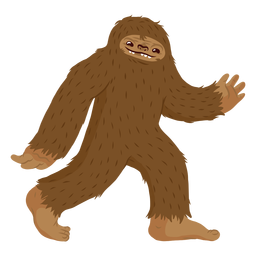 Bigfoot walking cartoon