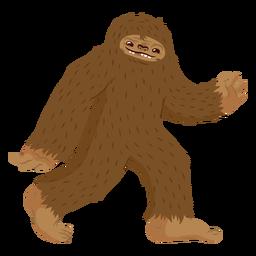 Desenhos animados andando de Bigfoot