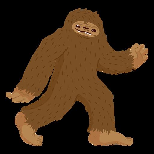 Bigfoot caminando de dibujos animados