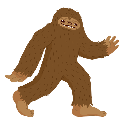 Desenhos animados andando de Bigfoot Transparent PNG