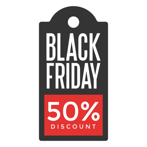 Black friday discount price tag Transparent PNG