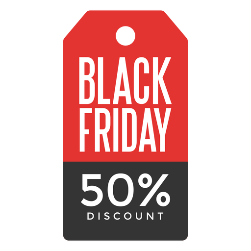 Black friday price tag Transparent PNG