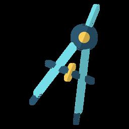 Arco, bússola, escola, ilustração