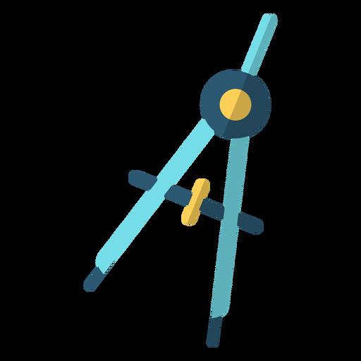 Bow compass school illustration