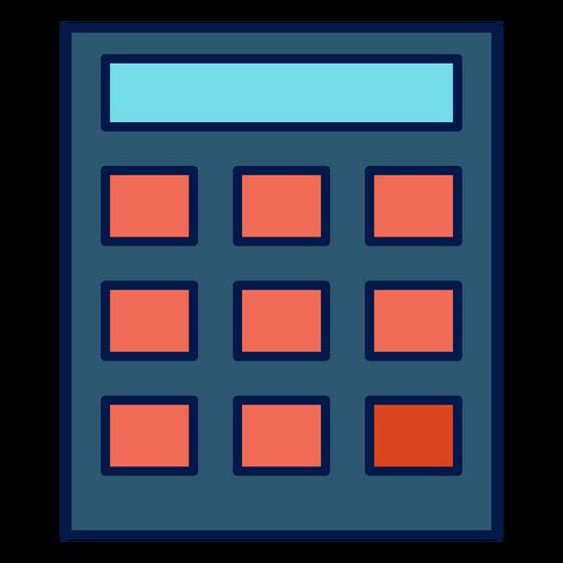 Icono de calculadora de la escuela