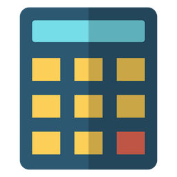 Calculator school illustration