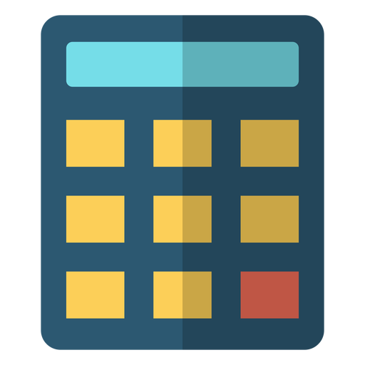 Calculator school illustration Transparent PNG