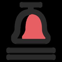 Ícone de traço colorido sino de chamada