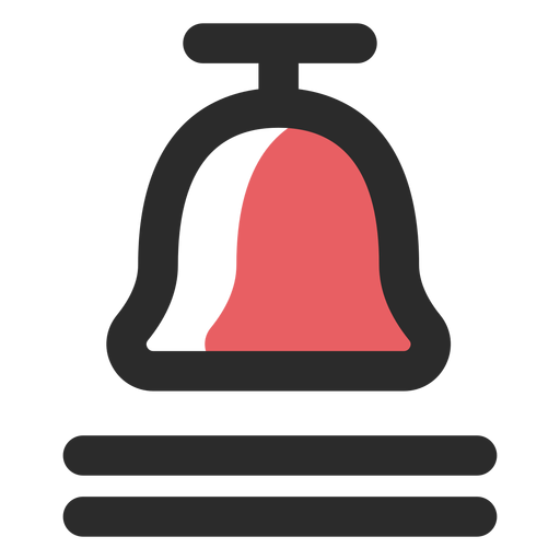 Call bell colored stroke icon Transparent PNG