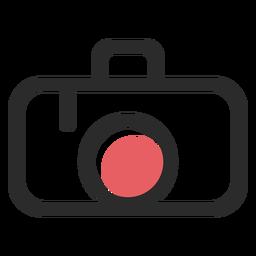 Icono de trazo de color de cámara