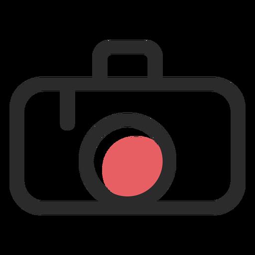 Ícone de traço colorido da câmera Transparent PNG