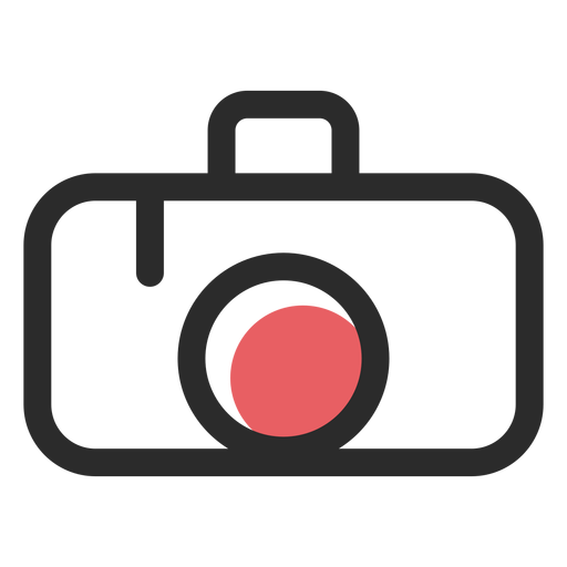 Icono de trazo de color de cámara Transparent PNG