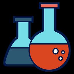 Chemie-Kolben-Symbol