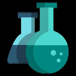 Ícones de escola de ilustração de balão de química