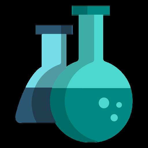 Iconos de la escuela de ilustración de matraz de química