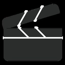 Clapperboard icono plana