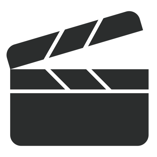 Ícone plana de claquete Transparent PNG
