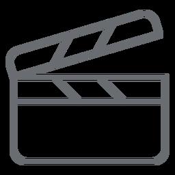 Clapperboard-Strich-Symbol