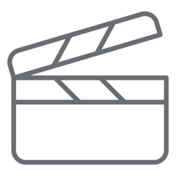 Clapperboard stroke icon