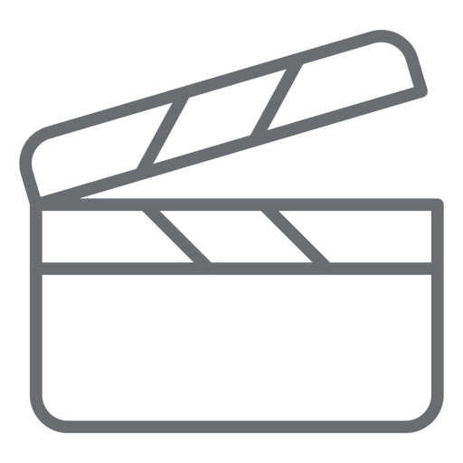 Clapperboard stroke icon Transparent PNG