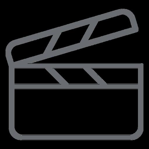 Icono de trazo de claqueta Transparent PNG