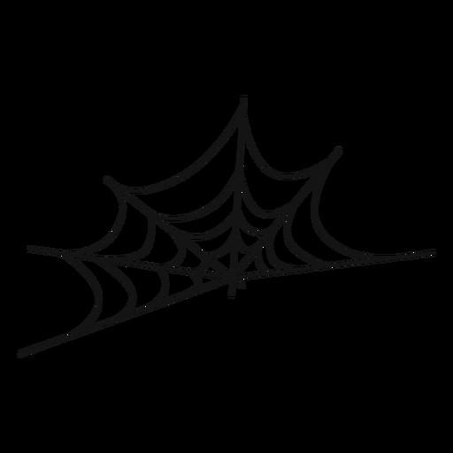 Cobweb thin line icon Transparent PNG